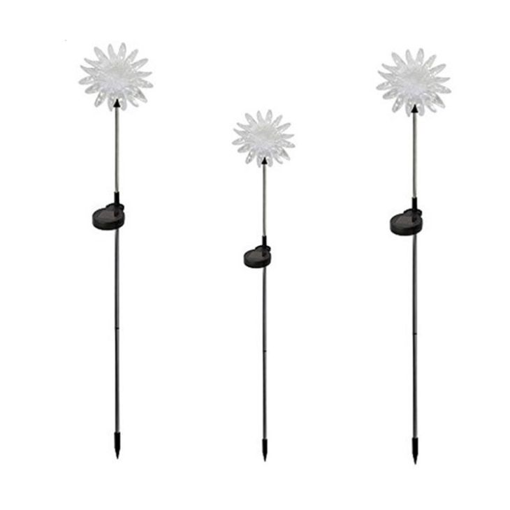 Solar Garden Flower Stick Light